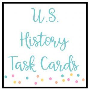 U.S. History Task Cards