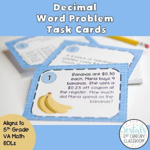 decimal-word-problems-task-cards