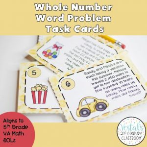 whole-number-word-problem-task-cards