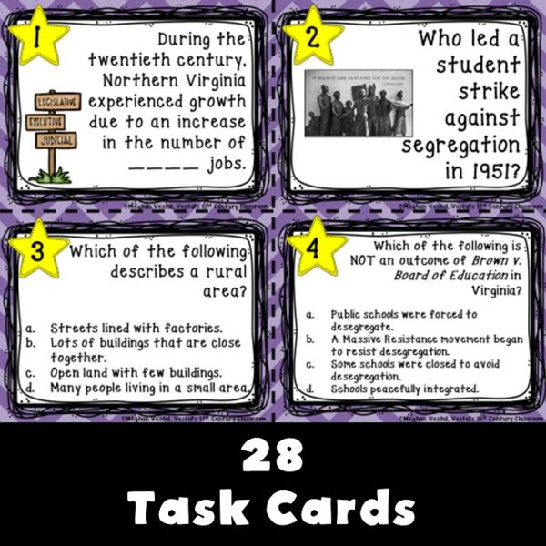 virginia-studies-20th-and-21st-centuries-task-cards-2
