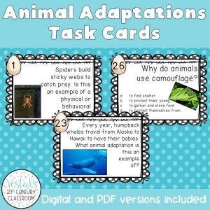 animal-adaptations-task-cards