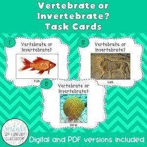 vertebrate-invertebrate-task-cards