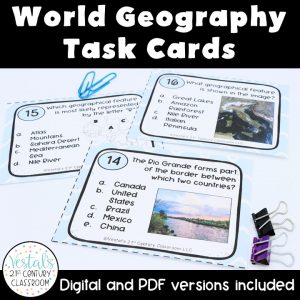 world-geography-task-cards