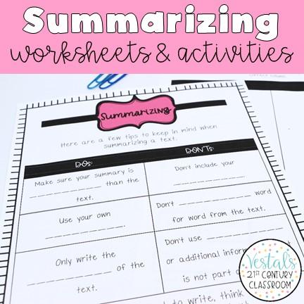 summarizing-worksheets-and-activities
